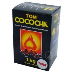 Tom Cococha Shisha Natur Kohle - gelb - 1 kg - 25 x 25 x 25 cm
